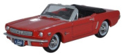 Oxford Diecast 1:87 Scale 1965 Ford Mustang Convertible In Poppy Red