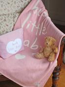 "Shruti ""Hush Little Baby"" Pink Cotton Blanket - 70 x 90cm"