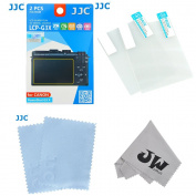 JW LCP-G3X 2 Kits Low Reflection Anti-smudge High Transmission Perfect Cutting LCD Guard Film Display Screen Protector For Canon PowerShot G3 X + JW emall Micro Fibre Cleaning Cloth