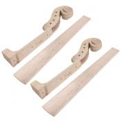 2 sets Hand Carved Maple 4 string 4/4 Violin Parts Violin Neck And Fingerboard Unfinished
