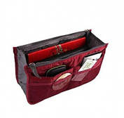 Domire Wine Red Handbag Pouch Bag in Bag Organiser Insert Organiser Tidy Travel Cosmetic Pocket Makeup Bag
