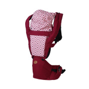 BINGONE Comfortable Breathe Freely Style Multi-fonction Soft Toddler Baby Carrier with Wood and Sun Shade Red