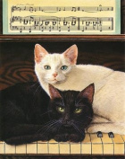 Ebony and Ivory Matted Artist's Proof Print by Drew Strouble