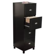Bradley 4-Drawer Filing Cabinet in Black