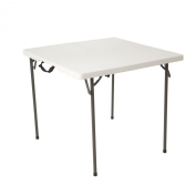 Lifetime 80273 Fold in Half Square Table, 90cm , White