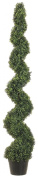 Silk Decor 1.8m Pond Boxwood Spiral Topiary Plant, Green
