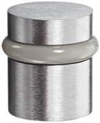 Rockwood 446.26D Brass Modern Style Universal Door Stop, #12 X 2.5cm - 1.3cm WS Fastener with Plastic Anchor and 12-60cm x 2.5cm FH MS Fastener with Lead Anchor, 2.5cm - 0.6cm Base Diameter, 2.5cm - 1.3cm Height, Satin Chrome Plated Finish
