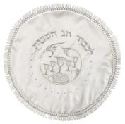 Majestic Giftware MC202R Round Terylene Passover Matzah Cover, 43cm