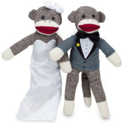 Sock Monkey Family Bride and Groom