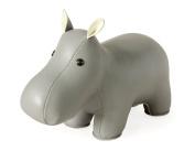 Zuny Classic Hippo Grey Animal Bookend Decor