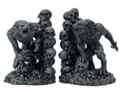 Werewolves Werewolf & Skulls Fantasy Set of Bookends Book Ends