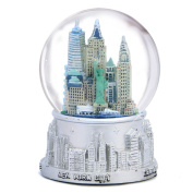 New York City Silver with Colour Snow Globe 65mm