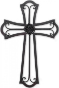 Metal Wall Cross with Medallion