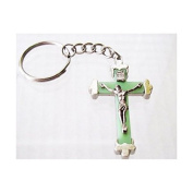 Blessed By Pope Francis Glow in the Dark Crucifix Keychain