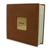 Golden State Art Photo Album, Holds 200 10cm x 15cm pictures, 2 per page, Suede Cover, Rusty Bronze