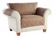 Tailor Fit Diamond Quilted Microsuede Machine Washable Furniture Love Seat Protector, Stonewear