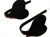 Curtain Tiebacks-Hearts! Pair--Amish Made Wrought Iron