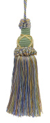 Decorative 14cm Key Tassel, Green, Gold, Blue Imperial II Collection Style# KTIC Colour