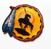 End of the Trail Embroidered Patch Native American Icon Symbol Iron-On Indian Emblem