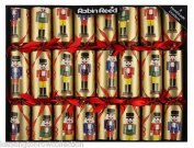 Robin Reed Set of 8 Handmade Nutcraker Christmas Crackers