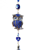 Blue Evil Eye with Owl Hanging Ornament (with a Betterdecor Pounch)-025