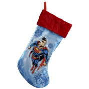 Kurt Adler Superman Applique Stocking, 48cm
