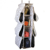 Paylak SCR505 Purse or Shoe Hanging Closet Organiser Polk-dot Beige Print