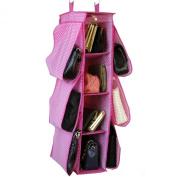 Paylak SCR507 Purse or Shoe Hanging Closet Organiser Pink Polk-dot Print
