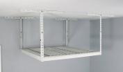 MonsterRAX Overhead Garage Storage Rack (60cm - 110cm Ceiling Drop), 1.2m x 1.2m, White