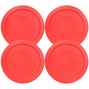Pyrex 7201-PC Round Red 16.5cm 4 Cup Lid for Glass Bowl 4 Pack