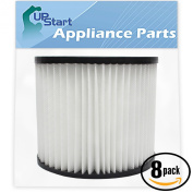 8-Pack Replacement 9039800 Filter 903-98-00 for Shop-Vac - Compatible with Shop-Vac H87S550A, Shop-Vac 90398, Shop-Vac 587-24-62, Shop-Vac E87S450, Shop-Vac 587-04-00, Shop-Vac 286-00-10, Shop-Vac 962-15-00, Shop-Vac 394-20-00, Shop-Vac Wall-Mount 394- ..
