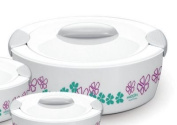 MILTON SAVOUR 2.5-Litre Keep Warm/Cold Insulated Hot Pot Thermo Casserole, Small, White