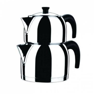 KORKMAZ Orbit 3.1 litre 18/10 Stainless Steel Turkish Teapot