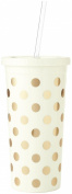 kate spade new york Insulated Tumbler, Gold Dots