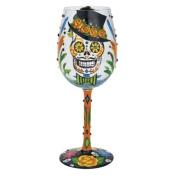 Lolita Glassware Lolita from Enesco Sugar Skulls Wine Glass, 27cm , Multicolor