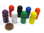 Set of 8 Ball Pawns 30mm Peg Pieces for Board Game Play - Assorted Colours