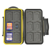 JJC MC-SDMSD24 Water-Resistant Holder Storage Memory Card Case For 12SD Cards & 12 Micro SD Cards