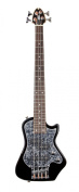 Shredneck Z-Series Travel Bass - Black with Black Pearl P/G - STBS-BK-BP