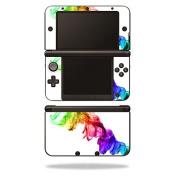 MightySkins Protective Vinyl Skin Decal Cover for Nintendo 3DS XL Original (2012-2014 Models) Sticker Wrap Skins Rainbow Smoke