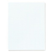 Office Depot(R) Brand Quadrille Pads, 4 x 4 Squares/Inch, 25 Sheets, White, Pack Of 6