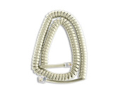 The VoIP Lounge 3.7m Ash Handset Curly Cord for Nortel Norstar M Series Phones M7100 M7208 M7310 M7324 M2008 M2616 M5316