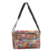 ZXKEE Floral Beige Pattern Messenger Bag Cross Body Bag