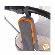 Diago Insulated universal Bottle Bag - Grey with Orange trim