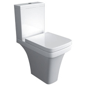 Supreme 600 Bathroom White Ceramic Fully Back To Wall Close Coupled Toilet & Soft Close Toilet Seat