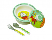 """Sugar Booger """"Nursery Rhyme"""" Feeding Collection Covered Bowl Gift Set"""