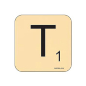 """T"" Scrabble Letter NOVELTY Coaster - Fun Word Games Themed Design"