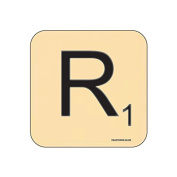"""R"" Scrabble Letter NOVELTY Coaster - Fun Word Games Themed Design"