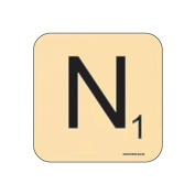"""N"" Scrabble Letter NOVELTY Coaster - Fun Word Games Themed Design"