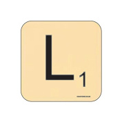 """L"" Scrabble Letter NOVELTY Coaster - Fun Word Games Themed Design"