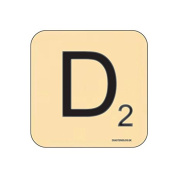 """D"" Scrabble Letter NOVELTY Coaster - Fun Word Games Themed Design"
